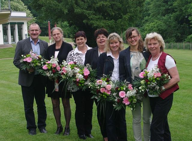 v.l. Henrik Wendorff, Jutta Quoos, Ulrike Weller, Wilma Nickel, Manuela Scheil, Hanka Mittelstädt, Sylvia Herrmann
