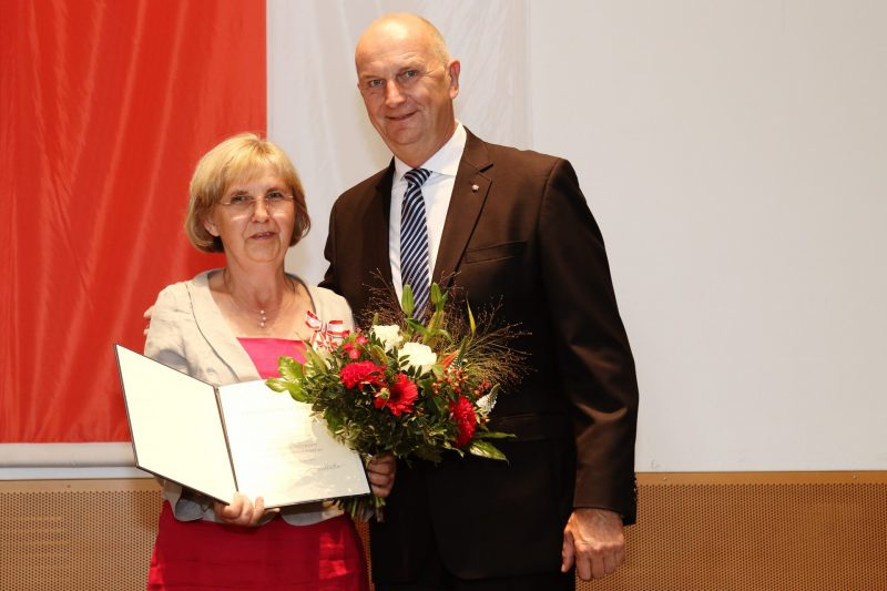 Christina Lehmann mit Ministerpräsident Dietmar Woidke