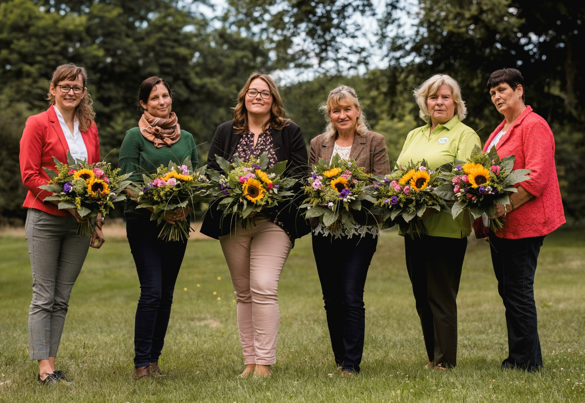 v.l.n.r. Hanka Mittelstädt, Katja Liebenthal, Antje Schulze, Manuela Scheil, Sylvia Herrmann, Ulrike Weller